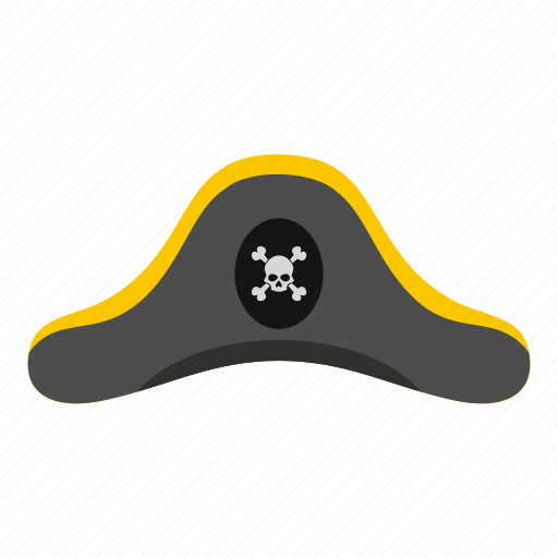apparel, death, hat, nautical, pirate, pirate hat, roger icon
