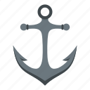 anchor, antique, equipment, heavy, iron, marine, nautical icon