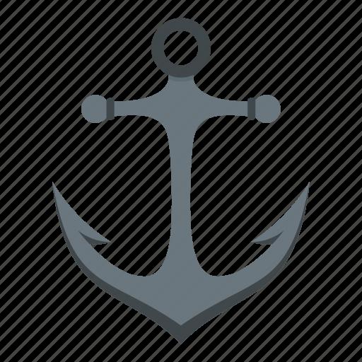 anchor, antique, equipment, heavy, iron, marine, nautical icon