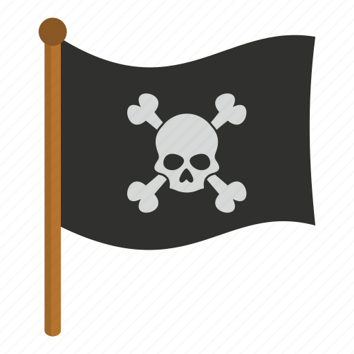 danger, death, flag, pirate flag, scary, skull, tattoo icon