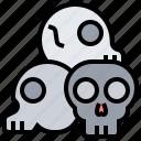 death, killed, pile, skulls, victims icon