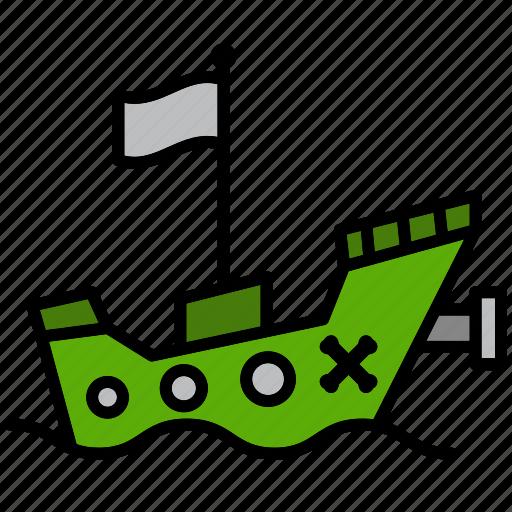 boat, grub, pirate, pirate ship, raider, rover, ship icon