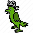 bird, fowl, grub, parrot, pirate, raider, rover icon