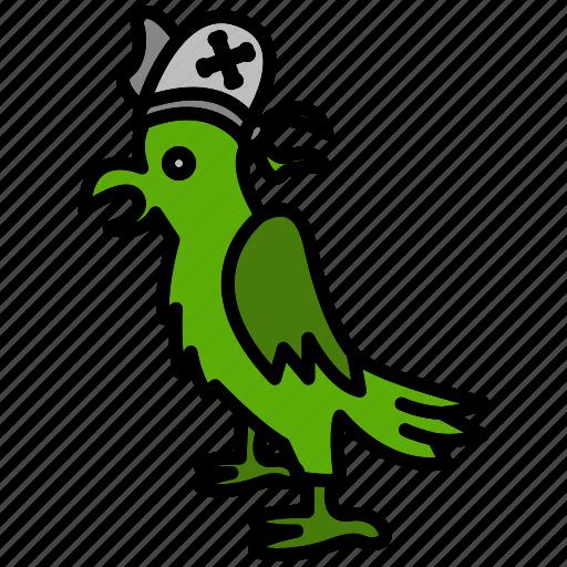 bird, fowl, grub, parrot, pirate, raider, rover icon