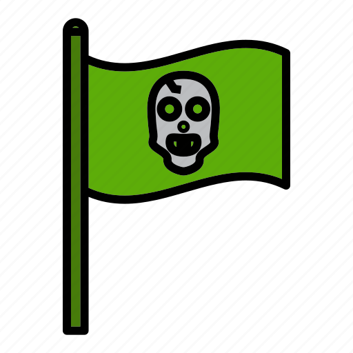 flag, grub, jolly roger, pirate, raider, rover, skull icon