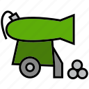 cannon, grub, gun, pirate, raider, rover, weapon icon