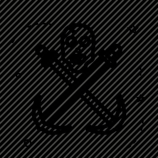 anchor, berth, grub, harbor, pirate, raider, rover icon