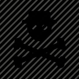 bones, incognito, pirate, pix, r, skull, user icon