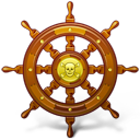 navigate, pirate, ship, wheel
