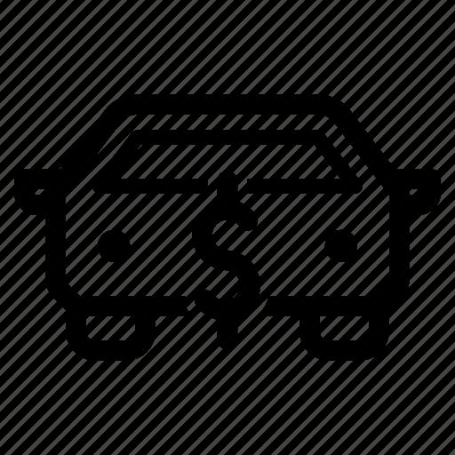 auto, automobile, car, cost, dealer, market, sale icon