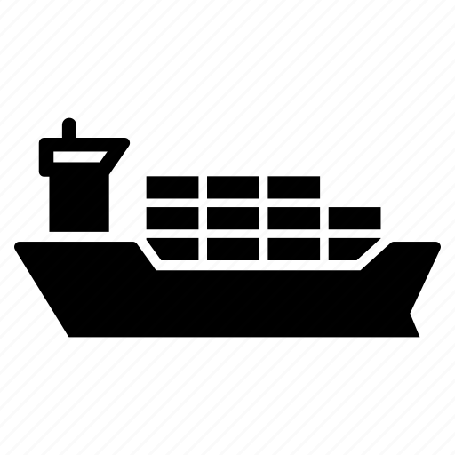 cargo, commerce, container, freight, freighter, ship, shipping icon