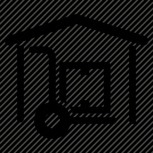 distribution, dropshipper, foot, logistics, supplier, truck, warehouse icon