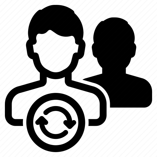 avatar, exchange, membership, renew, swap, switch, user icon