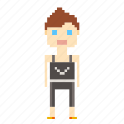 female, girl, person, pixels, sport, woman icon