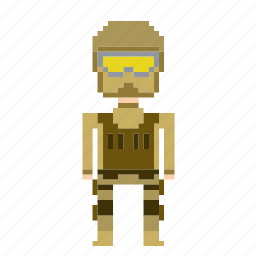 antiterrorist, cop, man, person, pixels, policeman icon