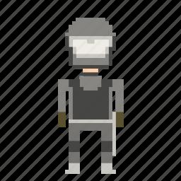 cop, man, person, pixels, policeman icon