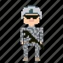 male, man, person, pixels, soldier