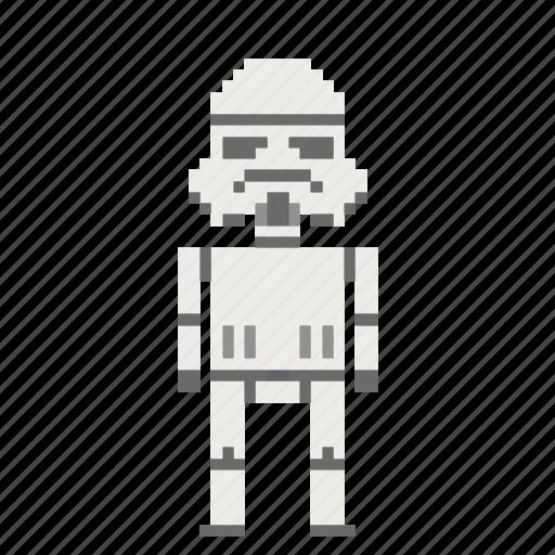 avatar, man, person, pixels, star wars, starwars, stormtrooper icon