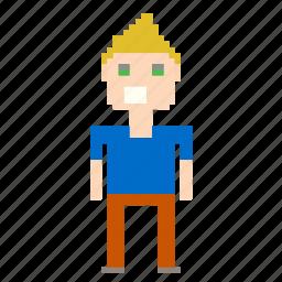 boy, male, man, person, pixels icon