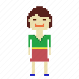 chinese, chinese woman, girl, person, pixels, woman icon