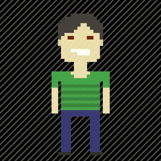 chinaman, chinese, japanese, male, man, person, pixels icon