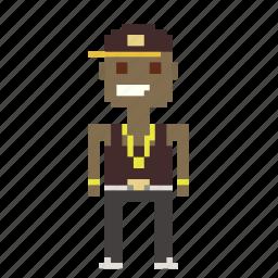 avatar, hip-hop, male, man, person, pixels, rapper icon