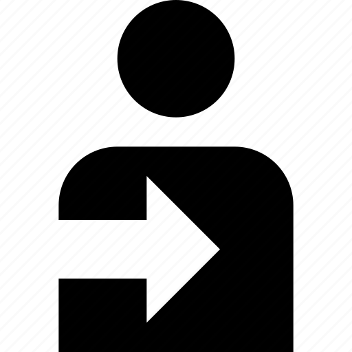 arrow, inside, login, person, user icon