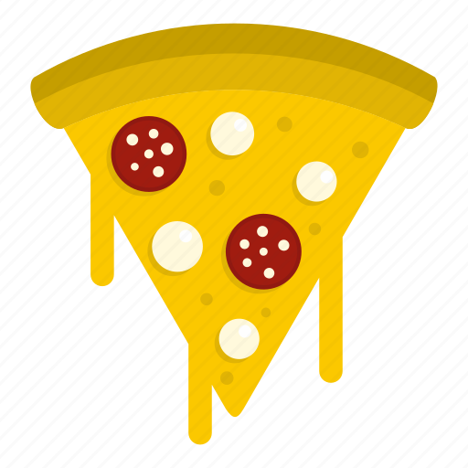 egg, food, pizza, salami, slice, vegetable, yolk icon