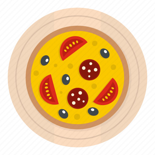 board, cheese, food, pizza, salami, sausage, wooden icon