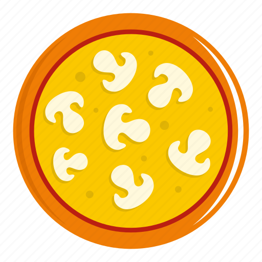 cheese, food, mushroom, pizza, salami, vegetable, vegetarian icon
