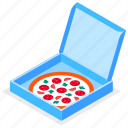 pizza, box, takeaway, delivery icon