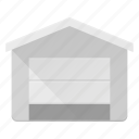 architecture, building, garage, landmark, place icon