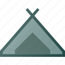 camp, camping, landmark, place, tent icon