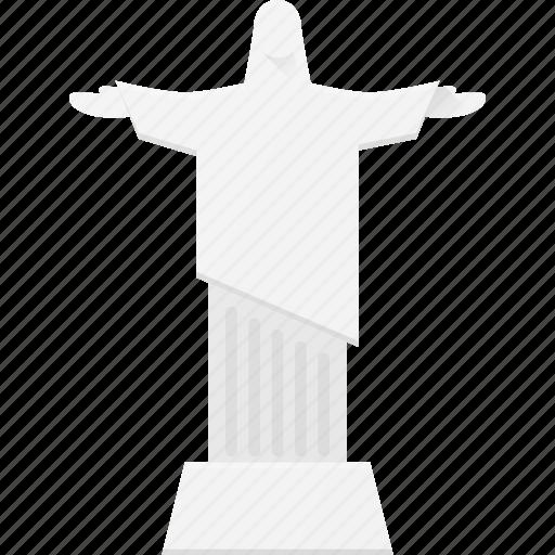 christ, jesus, landmark, place, rio, statue icon