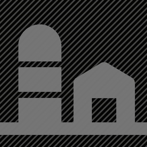 barn, farm, silo icon