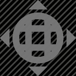 direction, globe, navigation icon