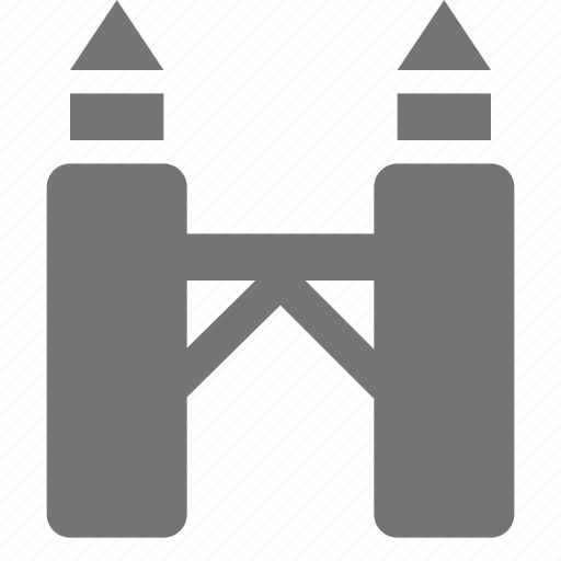 bridge, towers icon