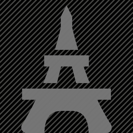 building, eiffel tower icon
