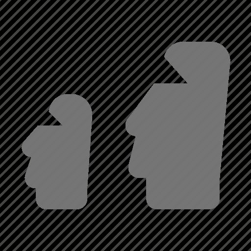 easter island, moai icon