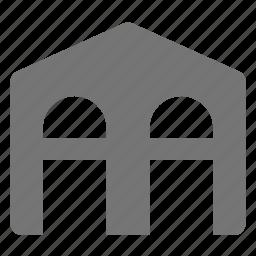 architecture, building, warehouse icon
