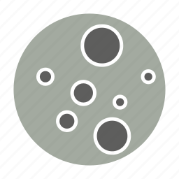 astronomy, moon, planets, space icon