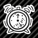 alarm, clock, timer, up, wake icon