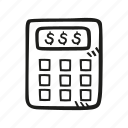 accounting, calculator, finance, math, money icon