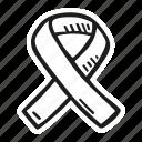 award, badge, cancer, ribbon icon
