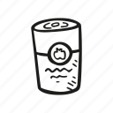 canned, food, soup icon
