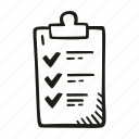 check, checklist, clipboard, list, mark icon