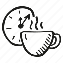 break, coffee, cup, drink, tea, time icon