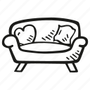 comfy, couch, furniture, household, sofa icon