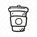 beverage, coffe, cup, drink, to go icon