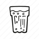 beverage, cooking, drink, food, glass, water icon